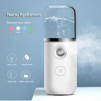 New USB Nano Facial Mist Sprayer Rechargeable Humidifier Face Nebulizer Steamer Moisturizing Beauty Instruments Skin Care Tools