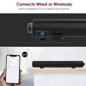 Image 2 - Subwoofer sound bar verdrahtete drahtlose Bluetooth home surround stange subwoofer dual lautsprecher sound bar schwere metall klassische zylinder