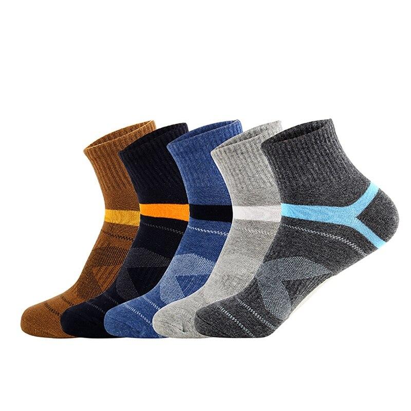 Men's Compression Socks Men Black Ankle Cotton Socks Running Basketball Sports Compression Sock For Man