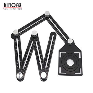 Image 1 - Aluminum Alloy Six Sided Ruler Measuring Instrument Template Angle Tool Mechanism Slides With Hole Locator