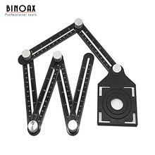Regla de seis lados de aleación de aluminio, instrumento de medición, plantilla, herramienta de ángulo, mecanismo, diapositivas con localizador de agujeros