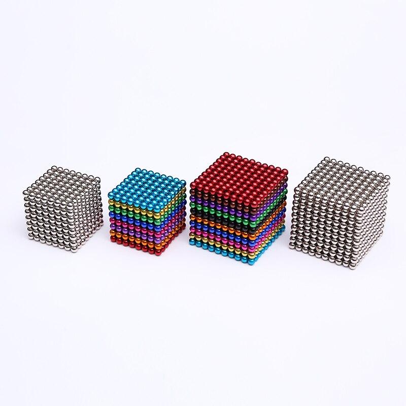 512 шт 1000 шт 3 мм 5 мм магические магнитные блоки магнитные шарики нео куб упаковка в металлической коробке