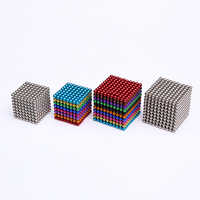 512 stücke 1000 stücke 3mm 5mm Magie Magnet Blöcke Magnetische kugeln Neo Cube Metall Box Paket