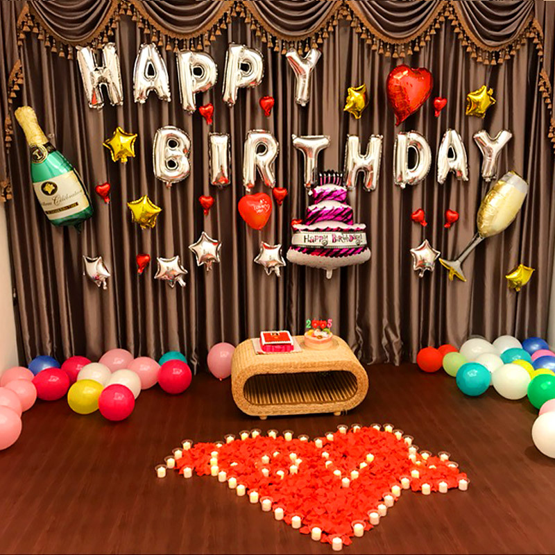 Donuts Balloons Beer Bottles Balloons Cake Balloons Foil Balloons Large For Children Adult Birthday Party Wedding Decoration