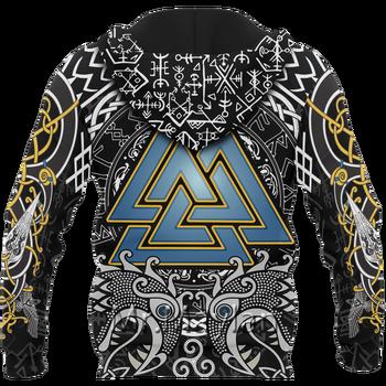 Viking Odin - Wotan 3D Print Jacket Men/Women Harajuku Hoodie Unisex Casual Streetwear Sweatshirt Pullover sudadera hombre P6503 2