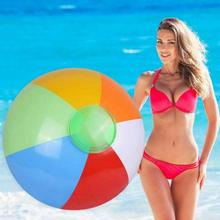 New Arrival 25/30/36cm Inflatable Beach Ball PVC Water Balloons Rainbow-Color Balls Summer Outdoor Beach Swimming Toys