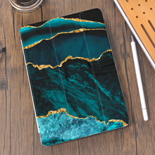 Marble Pattern For Air 4 Silicone Case iPad Pro 2020 10.5 with Pencil Holder 10.2 inch 8th Generation 7th 12.9 Pro 2018 Mini 4 5