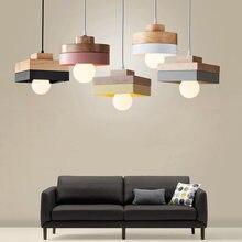 Современный модный подвесной светильник из дерева + rion для