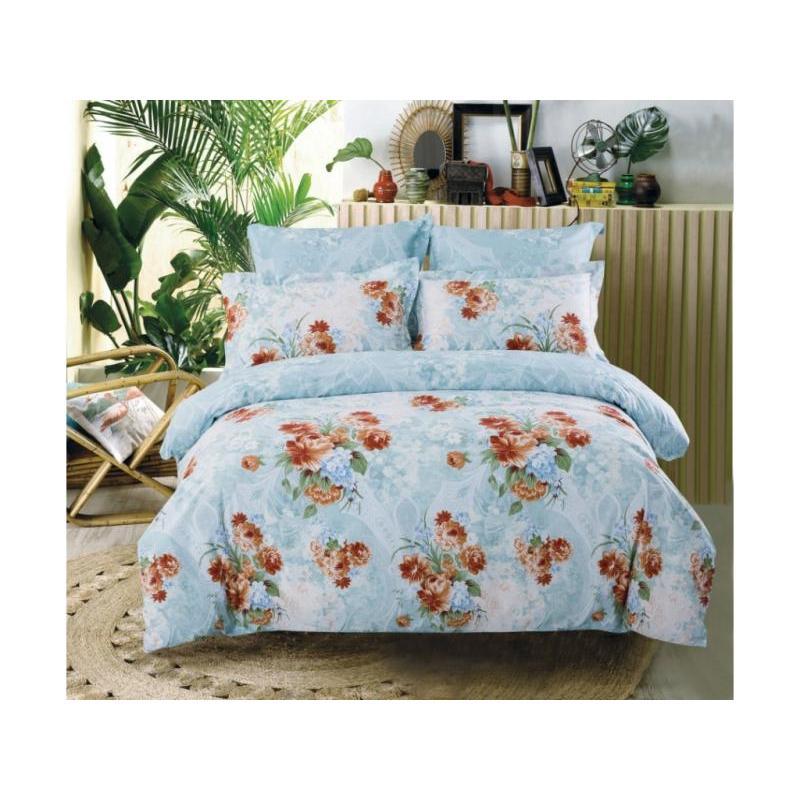 Bedding Set double-euro СайлиД, B, red flowers bedding set полутораспальный сайлид red flowers