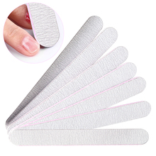 5pc Grey Straight Nail Files 100/180 Thick Sandpaper Nail Buffer Block For Pedicure Manicure Care Nail Art Polishing Tools LA864