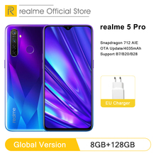 Global Version realme 5 Pro 4GB RAM 128GB Mobile Phone Snapd