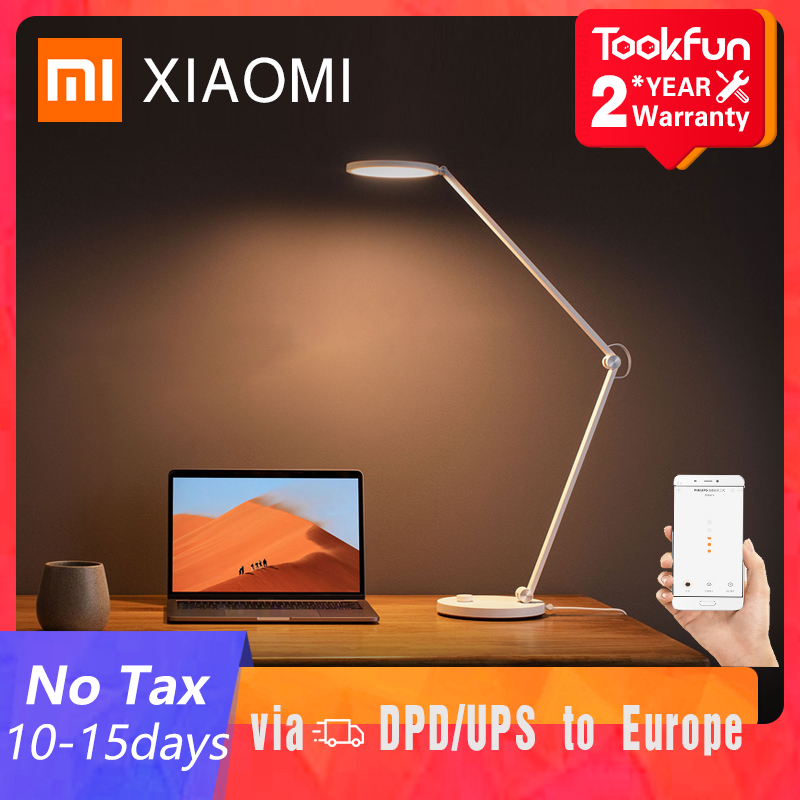 XIAOMI-lámpara de mesa MIJIA Mi Pro, LED inteligente para lectura y escritorio, plegable, luz nocturna para cabecera, para estudiantes, oficina, APP Mihome