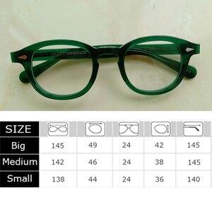 Image 2 - สีเขียวJohnny Deppแว่นตาผู้หญิงAcetate Retro Presbyopic Diopter + 1.0 + 1.5 + 2.0 + 2.5 + 3.0 + 3.5 + 4.0 Handmade