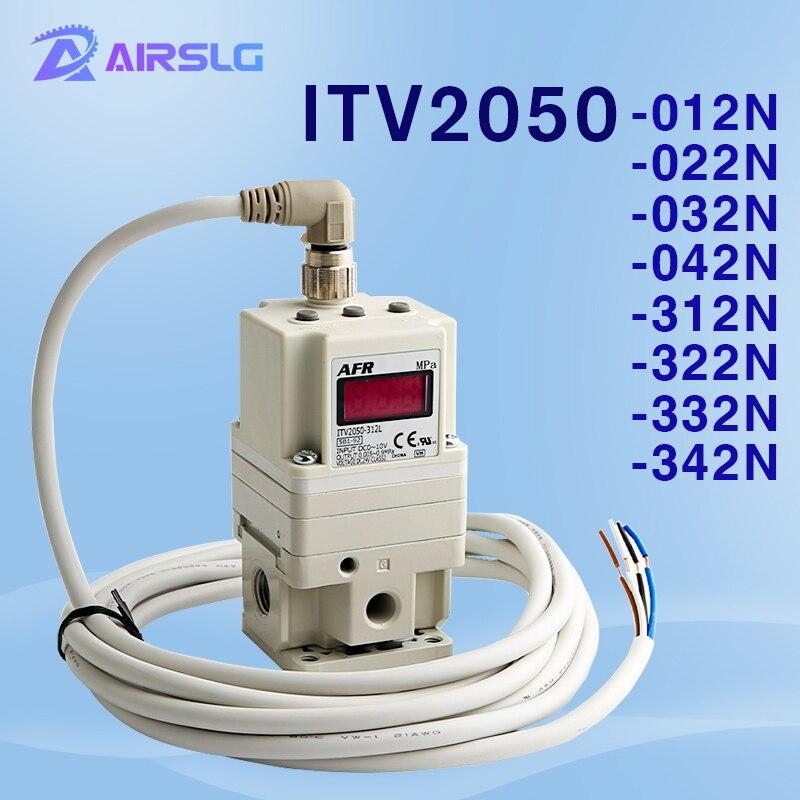 Válvula solenóide pneumática proporcional itv itv2050-012n ITV2050-022N-regulator regulador pneumático elétrico