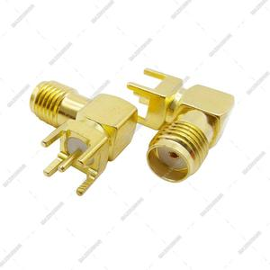 Image 4 - 3000pcs Gilt SMA Female PCB Right Angle Connector Welding Jack Thru Hole Plug 90 Degree PCB Mount Connector RF Adapter