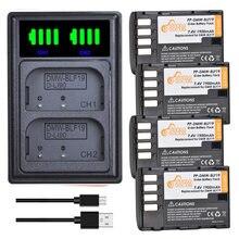 4 Stuks 1900Mah DMW-BLF19E DMW-BLF19 Batterij Dmw BLF19 BLF19 BLF19E + Led Dual Charger Voor Panasonic Lumix GH3 GH4 GH5 G9 Camera.