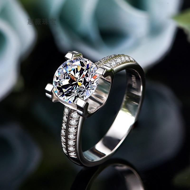 1ct DF Moissanite Radiant Cut Moissanite Halo Stone Engagement Ring For Women In 10K White Gold
