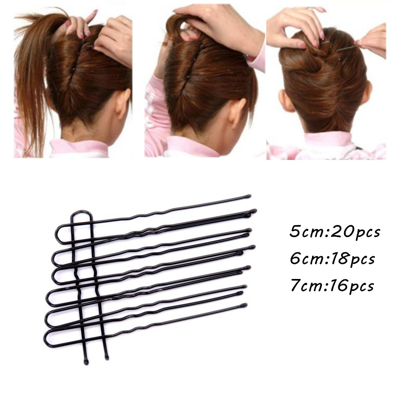 5/6/7cm U Shape Hair Pin Braided Hair Tool Pin Clip Metal Hairpin For Women Hair Accessories Hair Styling Tools