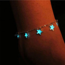 Glow In The Dark Star Chain Anklet Luminous Ankle Bracelet Women Leg Bracelet Barefoot Sandal Foot Chain Beach Jewelry(China)