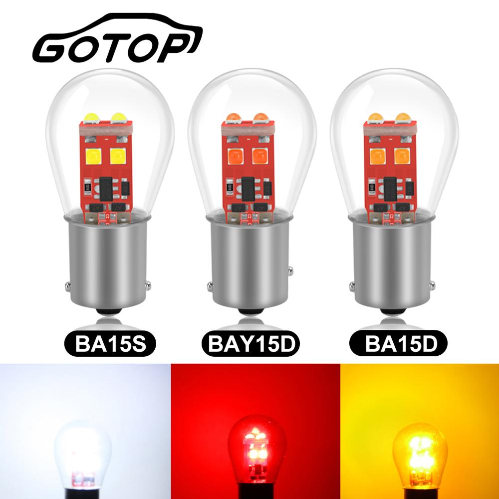 1pcs 1156 BA15S P21W Led Bulb 1157 BAY15D P21/5W Led 6SMD S35 Chips BA15D BAU15S PY21W 800LM Car Turn Signal Light Lamps 12V