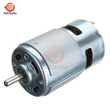 775 DC de Motor DC 12V 24V 4500/5500/12000 RPM de alta velocidad rodamiento de alto par de alta potencia de bajo ruido de Motor electrónico