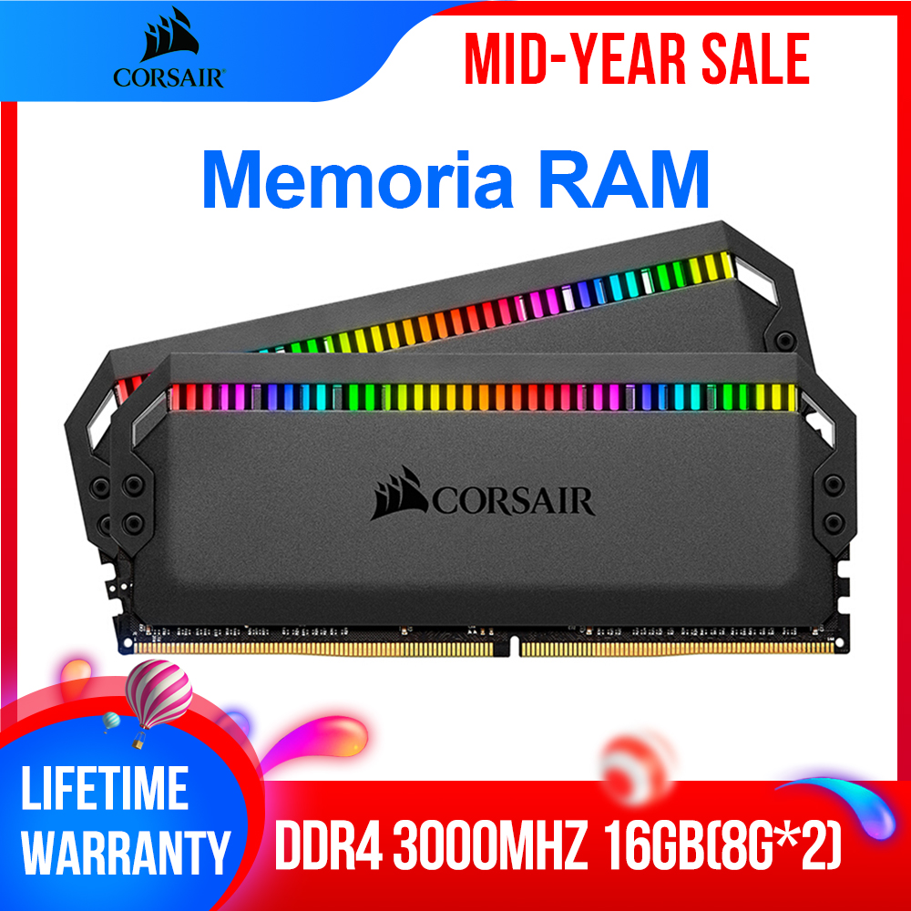 CORSAIR <font><b>RAM</b></font> <font><b>32GB</b></font> 64GB 128GB Dominator Platinum RGB Series Memoria <font><b>RAM</b></font> <font><b>DDR4</b></font> 16GB 2*8GB DRAM 3000 3200 3600 4800MHz for Desktop image