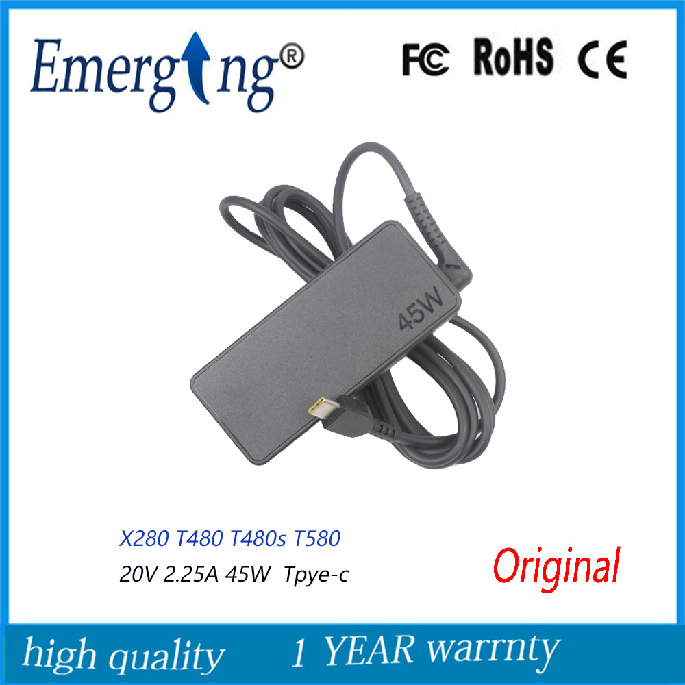 20V 2.25a 45W AC TYPE-C USB-C Adapter power supply For Lenovo YOGA 5 720-13IKB C330 S330 THINKPAD X1 image