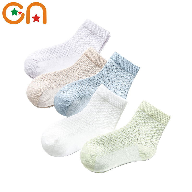 5 Pairs/Lot 2019 New Kids Cotton Socks Boy Girl Baby Fashion Breathable Sports Mesh Socks For 1-12years Children Summer Soft CN