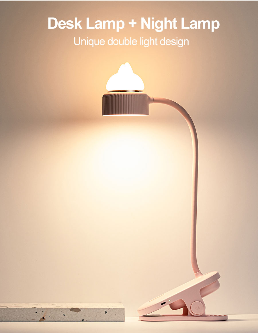 Picture of: Led Cat Desk Lamp 2 In 1 For Bed Headboard Book Clamp Night Light 360 Flexible Gooseneck Clip Reading Table Lamp Desk Lamps Aliexpress
