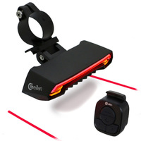 Bicycle Light Bike Laser taillight Wireless Remote Control Real light Meilan X1 led Front Light cycling lamp
