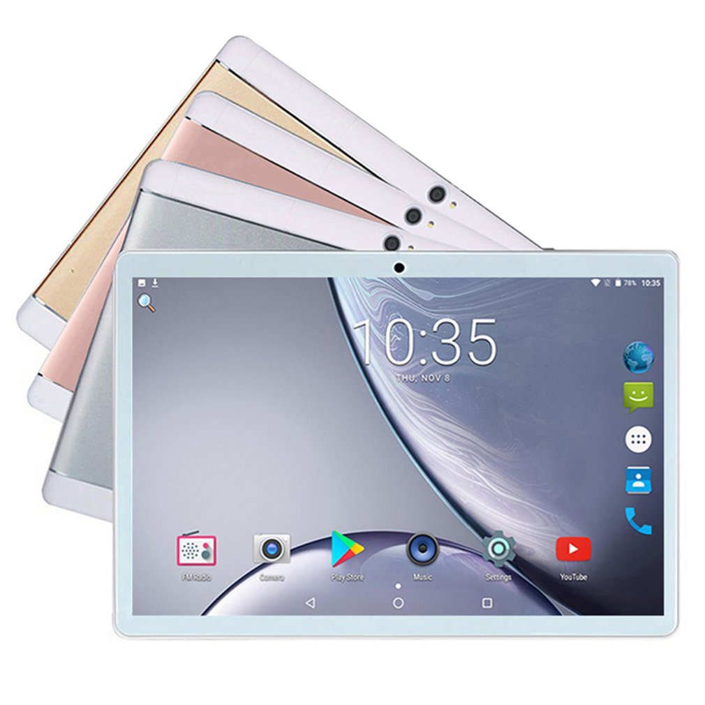 Capacitive Multi-language 4G Android 8.1 OS Tablet 64GB Expansion 10.1 Inch Core Rom Dual Sim Phone Call