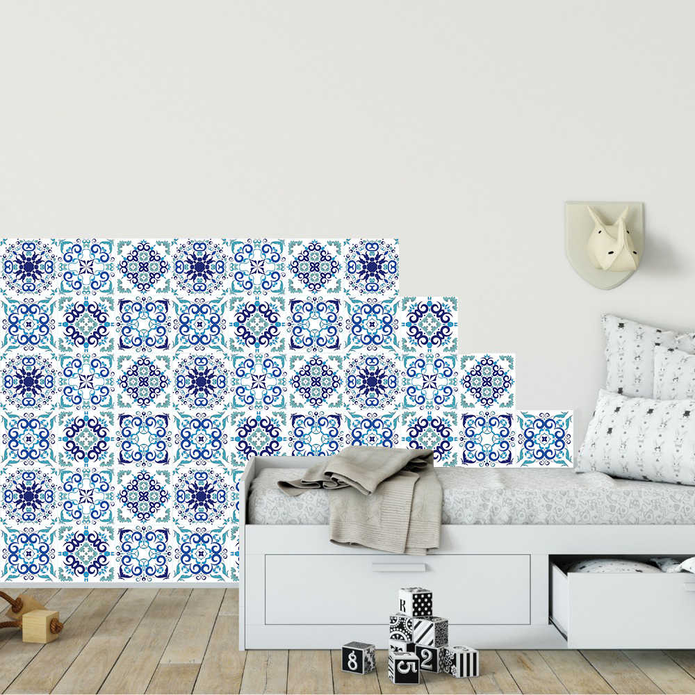 - 6pcs/set Fresh Style Tiles Wall Stickers Kitchen Bathroom