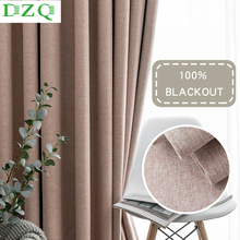 DZQ Modern 100%Blackout Curtains for Living Room Solid Color Window Curtains for Bedroom Kitchen Curtains Finished Drapes Blinds