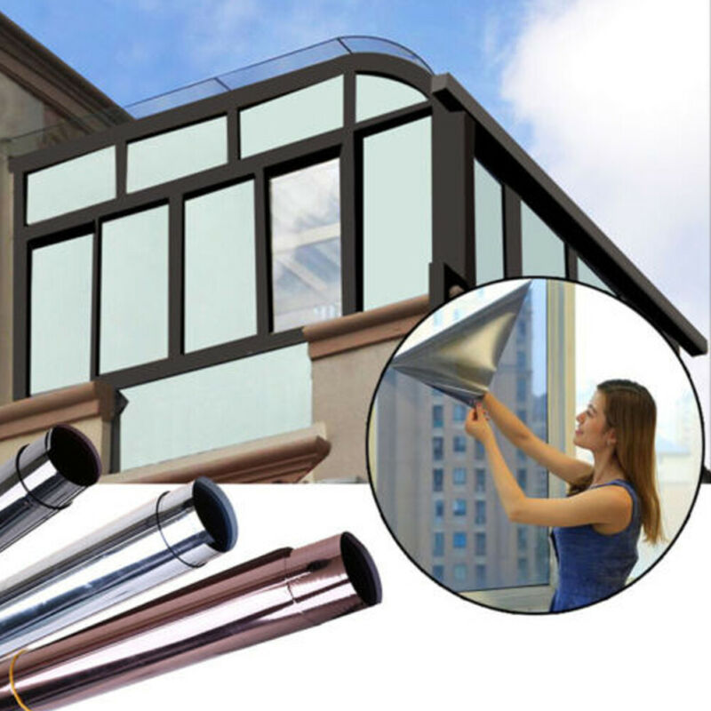 2019 New Sunscreen Glass Sticker House One Way Mirror Privacy Reflection Car Tint Window Film Windows Sticker Film
