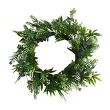 Pine Branches Wreath Artificial Leaves Floral Outdoor Indoor Wedding Decor Plastic 51cm Christmas Novel S27
