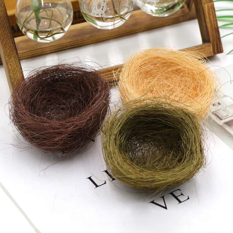 1Pc Small Bird Egg Nest Shed Comfortable Natural Material Nesting House Gift Box Pakage Decor Wrapping Supplies Random Color