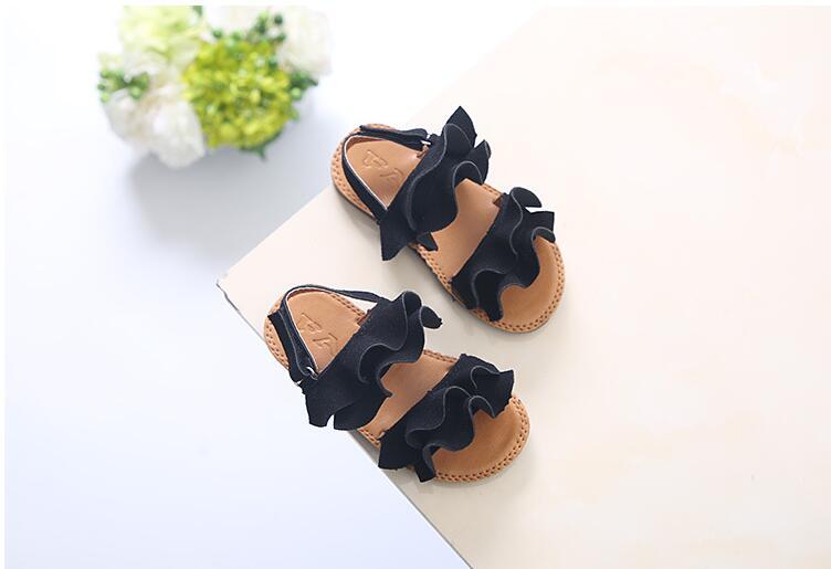 Sandálias infantis diversas, sapatos macios para meninas e crianças