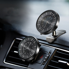 Two Styles Car Dashboard Air Outlet Phone Holder Auto Clock 360 Degree Adjustable Universal Cell Phone Bracket Car Accessories
