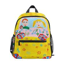 Childrens school backpack boy girls bags drawing pattern Big Capacity Student Schoolbag Backpack baby