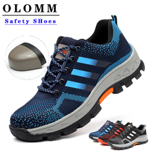 Men's Safety Work Shoes Steel Toe Sneakers Women Lightweight Breathable Indestructible Ryder Shoes W
