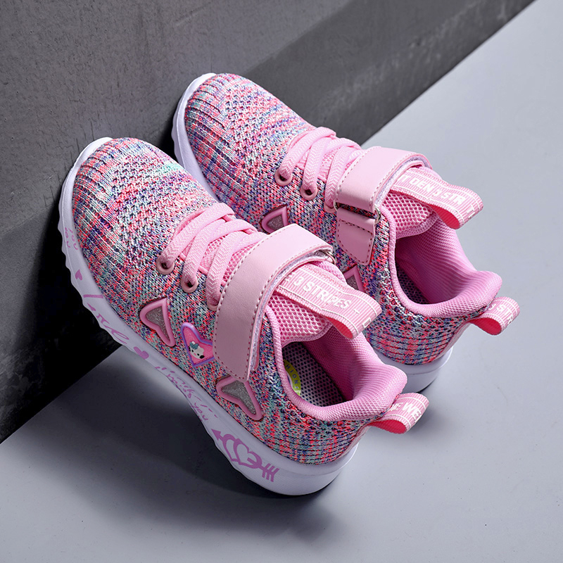 Girls Breathable Pink Sports Shoes 6