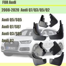 Para audi q3 q5 q7 q2 mudguards audi q3 q5 sline mud flaps q7 esporte pára-choques do carro respingo guardas acessórios de automóvel 2008-2020
