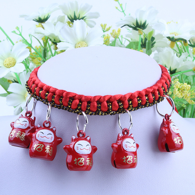 Cartoon Pet Bell Multi--Handmade Necklace Dog Pet Cat Collar Collar
