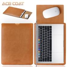 ACECOAT mikrofibra PU skórzany pokrowiec Protector torby Macbook Air Pro Retina13 12 15 16 case 2020 touch bar bundle