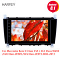 Harfey 8 дюймов Android 8 1 GPS автомобильное радио для Mercedes Benz C Class C55/CLC Class W203/CLK Class W209/CLS Class W219 2004-2011