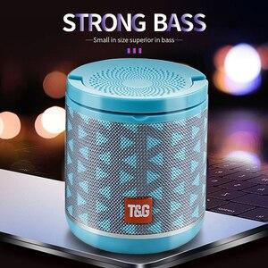 Image 1 - Nieuwe Draagbare Bluetooth Speaker & Telefoon Houder Mini Subwoofer Stof Draadloze Outdoor Parlante 6 Kleuren Ondersteuning Tf kaart USD Schijf