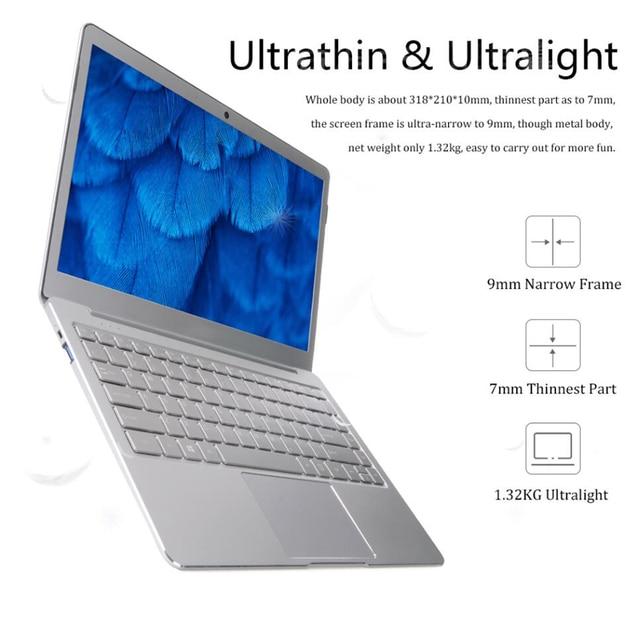 14 pollici Intel J3455 Finestre 10 8GB di RAM 128/256GB/512G/1TB SSD tastiera del computer portatile con Retroilluminazione IPS Display Della Copertura del Metallo Notebook