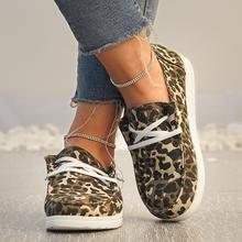 2021 kobiet Sneakers brezentowych butów stałe Leopard oddychające codzienne tenisówki kobieta mieszkania wiosna koronki Up okrągłe Toe kobiet płaskie buty tanie tanio E CN Na co dzień podstawowe CN (pochodzenie) Na wiosnę jesień Cotton Fabric okrągły nosek RUBBER Sznurowane Dobrze pasuje do rozmiaru wybierz swój normalny rozmiar