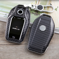 ABS Carbon Car Key Case cover For BMW G12 GT G30 G21 I8 I12 I15 X3 730i 740i 750i 7 Series  Display Key Car Styling|Key Case for Car| |  -