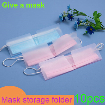 Dustproof Mask Folder Container Foldable Face Masks Folder Clip Safe Pollution Disposable Mask Storage Case Box Bill package image